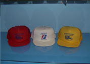 Greyhound Bus Museum Baseball Caps in red, white or yellos.