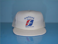 White Greyhound Bus Baseball Caps